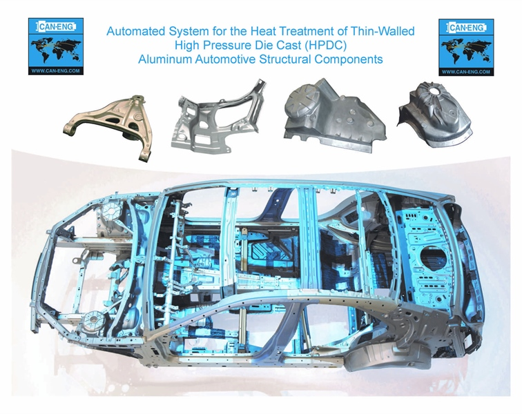 CAN-ENG Furnaces International Limited Contracted to Build an Automated System for the Heat Treatment of Thin Walled High Pressure Die Cast Aluminum Automotive Structural Components