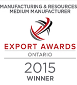 Ontario Export Awards 2015 Medium Manufacturer Winner